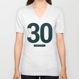 30/80 Unisex V-Neck