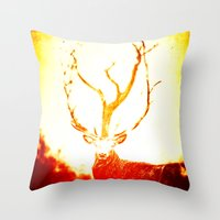 stag Throw Pillows featuring STAG by Chrisb Marquez
