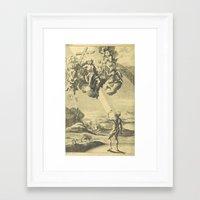 satan Framed Art Prints featuring Satan by Chateau Partay