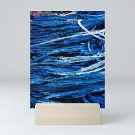 Nature and Man: Metal, Plastic, and Seaweed Mini Art Print