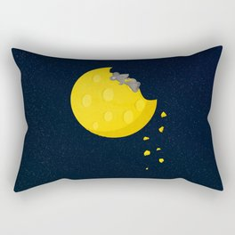 """""""If I could take a mouse to the moon…"""" Rectangular Pillow"""