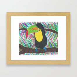Colorful Tropical Toucan Framed Art Print