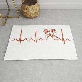 Plastic Surgeon Heartbeat Rug