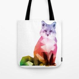 Sitting Rainbow Fox Tote Bag