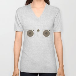 Two Turntables and a Microphone Unisex V-Neck