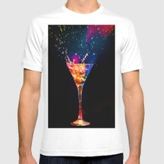 Boom Coctail White MEDIUM Mens Fitted Tee