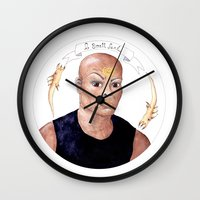 stargate Wall Clocks featuring Stargate - Teal'c by Sunol Golden