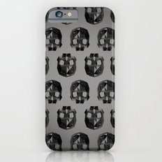 Black skull low poly iPhone 6s Slim Case
