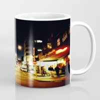 cuba Mugs featuring Cuba Street by Curious Yellow