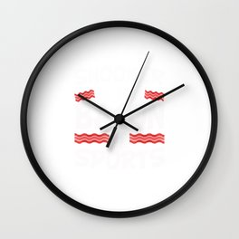 Snooker is the Bacon of Sports Funny Wall Clock