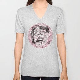 Self-portrait with a tooth and spider Unisex V-Neck