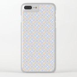 Patterns: Blue Orange Squigglies Clear iPhone Case