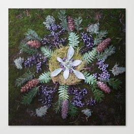Nature Mandala: January Canvas Print