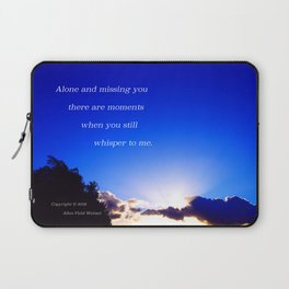 """Flickering Sunset"" with poem: There Are Moments Laptop Sleeve"