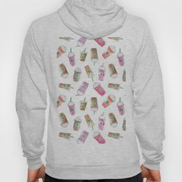Coffee Crazy Toss in White Cream Hoody