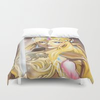 zelda Duvet Covers featuring Zelda by Mika