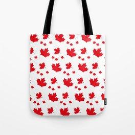Canada Maple Leaf-Large-White Tote Bag
