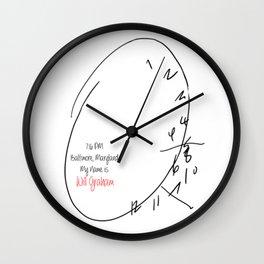 Will Graham Clock Wall Clock