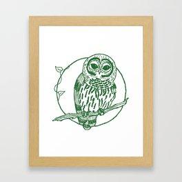 Forest Lover's Owl Framed Art Print
