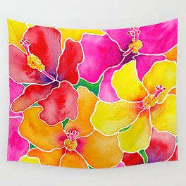 Hawaiian Hibiscus  Wall Tapestry