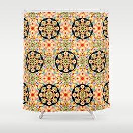 Groovy Carousel Pattern Shower Curtain