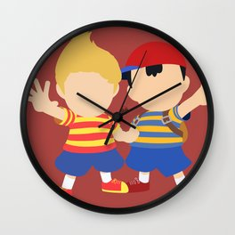 Ness&Lucas(Smash)Red Wall Clock