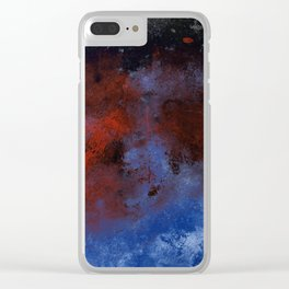 Turmoil - Acrylic Abstract Painting Clear iPhone Case