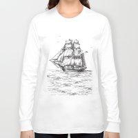 marine Long Sleeve T-shirts featuring marine by ismailburc
