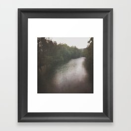 chasing the fog Framed Art Print