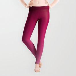Millennial Pink Peacock Maroon Gradient Pattern Leggings