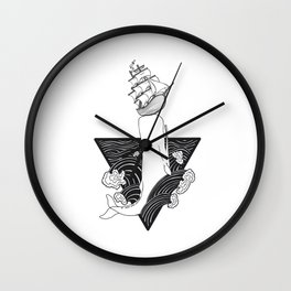Whale Wreck Wall Clock