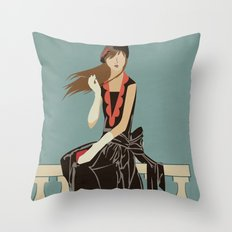 Oh to be French in the 30's Throw Pillow