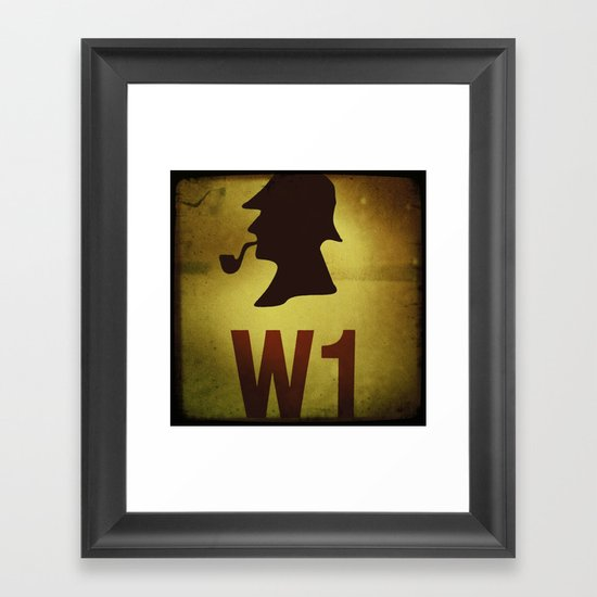 Hey Sherlock ! Framed Art Print