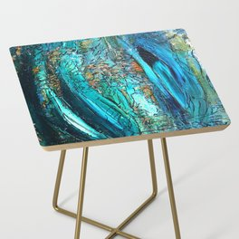 Doodle in blue Side Table