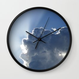 Sun Breaking Through Clouds Wall Clock