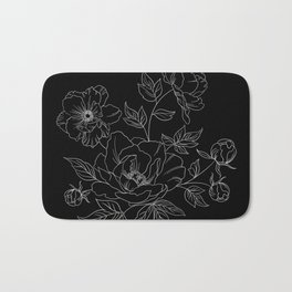 Negative space flowers Bath Mat
