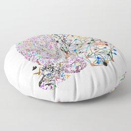the Brain Floor Pillow