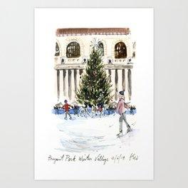 Bryant Park Winter Village Art Print