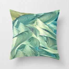 Blue Men Throw Pillow