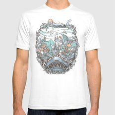 What Lurks Beneath MEDIUM White Mens Fitted Tee