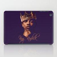 kendrick lamar iPad Cases featuring King Kendrick by GerritakaJey