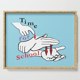 ASL Time for School Serving Tray