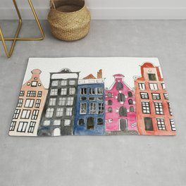 Amsterdam Canal Houses Rug