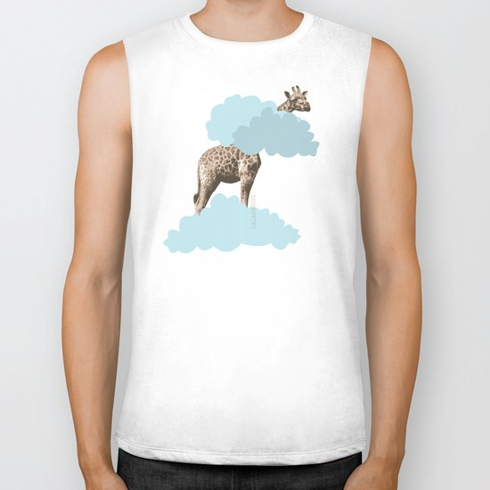 Giraff in the clouds . Joy in the clouds collection Biker Tank