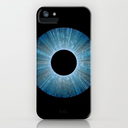 Blue Iris Abstract Universe Art iPhone Case