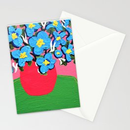 Blue Spring Flowers Stationery Cards