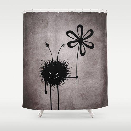 Evil Flower Bug Shower Curtain