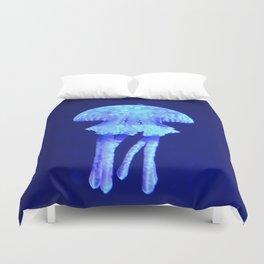 Blue jellyfish Duvet Cover