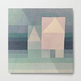1922 - Three Houses by Paul Klee Metal Print
