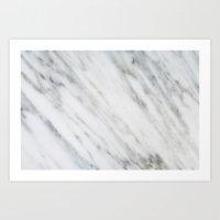 italian Art Prints featuring Carrara Italian Marble by cafelab
